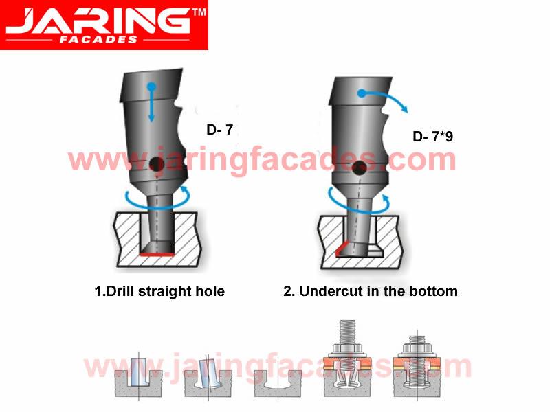 Undercut Anchor Drill Bit Jaring Facades Co Ltd